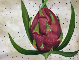 """Pitaya,"" acrylic on canvas."